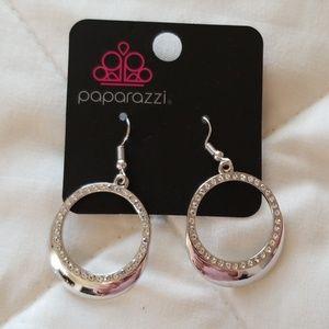 5 for $25 Silver hoop earrings